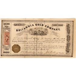 Britannia Gold Company Stock, Nova Scotia, Canada,  1865  (118585)