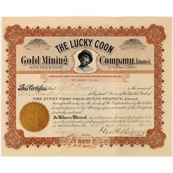 The Lucky Coon Gold Mining Company Ltd. Stock, Ontario, 1899  (118580)