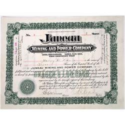 Juneau Mining & Power Company Stock Certificate  (118643)