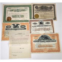 Alaska Mining Stocks (5)  (118639)