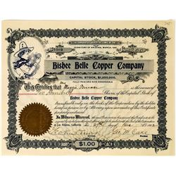 Bisbee Belle Copper Company Stock Certificate  (113695)