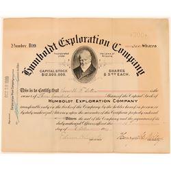 Humboldt Exploration Company Stock, Arizona, 1909  (118598)
