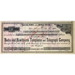 Bodie and Hawthorne Telephone & Telegraph Co. Stock Certificate  (113654)