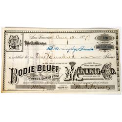 Bodie Bluff Consolidated Gold Mining Company Stock Certificate  (113644)