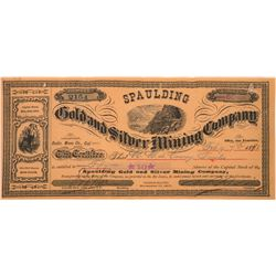 Bodie Mining Stock Certificate Signed by Ned Reddy  (122857)