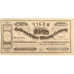 Tiger Gold and Silver Mining Company Stock Certificate, Bodie, California  (123145)