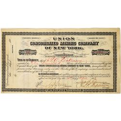 Union Consolidated Mining Co. Stock Certificate  (113643)