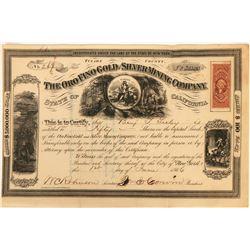 Oro Fino Gold & Silver Mining Company Certificate  (122855)