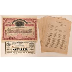 Ophir & North Butte Mining Stock Certificates  (119345)