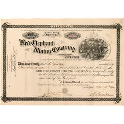 Red Elephant Mining Co Stock, Clear Creek Co., CO 1880  (118613)