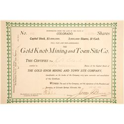 Gold Knob Mining and Town Site Co. Stock  (88406)
