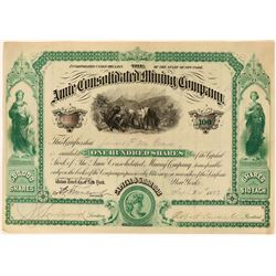 Amie Consolidated Mining Co Stock, Leadville, 1883  (118607)