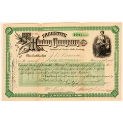Proustite Mining Company Stock Certificate  (123179)