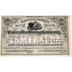 First North Extension Esmeralda Mining Co. Stock Certificate  (113680)