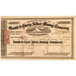 Rare, Early Gould & Curry Stock Certificate  (123162)