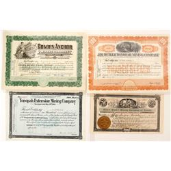 Tonopah Mining stock (4 certificates)  (88433)
