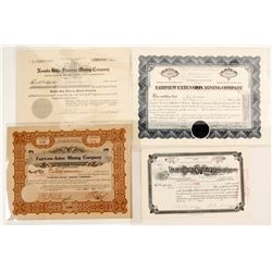West Central Nevada Mining Stock Certificates (4)  (88432)