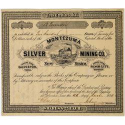 Montezuma Silver Mining Co. Stock Certificate  (113769)