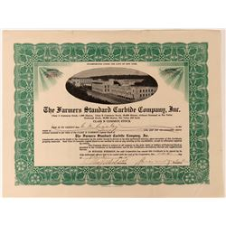 Farmers Standard Carbide Company Stock with vignette of massive factory  (123415)