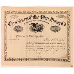 Cabarrus Gold & Silver Mining Stock of Cabarrus County, North Carolina  (118588)