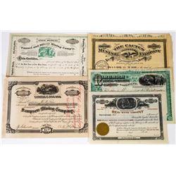 Utah Mining Stock Certificate Group   (113683)