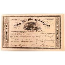 Stony Man Mining Company Stock, Virginia, 1859  (118586)