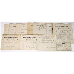 Manhattan Silver Mining Co. Billhead Archive  (113698)