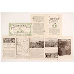 Original Bullfrog Mines Stock Certificate and Stories   (88423)