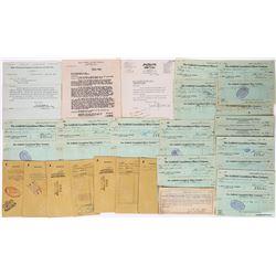 Goldfield, Nevada Mining Checks & Ephemera Lot of 24 Pieces  (113691)