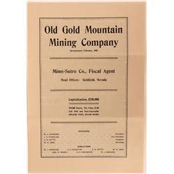 Old Gold Mountain Mining Company Prospectus  (123171)