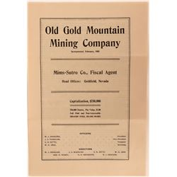 Old Gold Mountain Mining Company Prospectus  (123171)