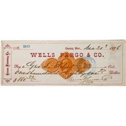 Rare Nevada Revenue Check: Genoa Fluming Company  (113647)