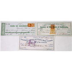 Three Different Virginia City Mining Checks  (113648)