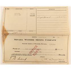 Bill for the Nevada Wonder Mining Company  (123143)