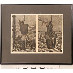Sinking a Shaft - Harper's Weekly Framed Print  (125070)