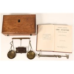 Antique Balance Scale and Book on Ore's   (122126)
