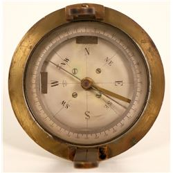 Antique Brass Survey Compass  (108661)