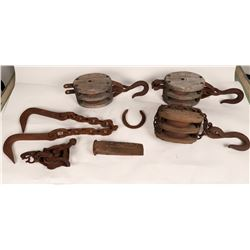 Pulley Blocks, Hook Chain, Splitting Wedge  (108682)