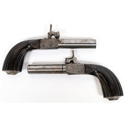 French  Percussion Pocket Pistols, Matched Pair  (122910)