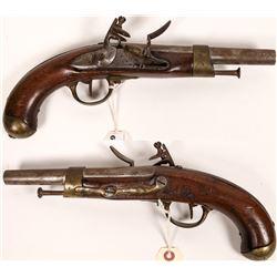 French Cavalry Flintlock Pistol model 9  (122909)