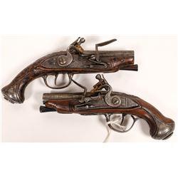 French Flintlock  Boot Pistols, Pair  (122911)