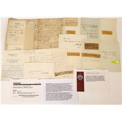 Abolitionist Signatures and Letter.  (120345)