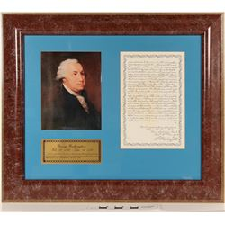 Geo. Washington Portrait and Facsimile Letter  (125197)