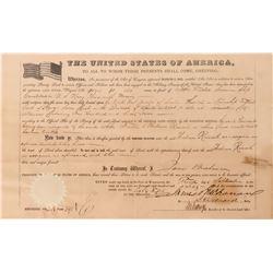 President James Buchanan Autographed Document, 1860  (125233)
