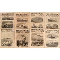 Civil War Ships in Action, Harper's Weekly  (123104)