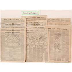 New York Herald Newspapers Covering Civil War  (108715)