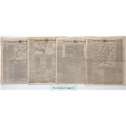New York Tribune  issues covering the Civil War  July-December 1862  (125079)