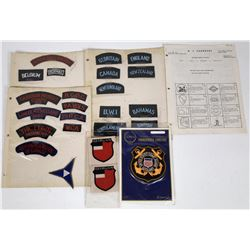 WWII  ERA Unit Shoulder Insignia Lot of 25  (122138)