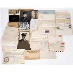 WWII Correspondence Between Families Lot of 72  (122140)