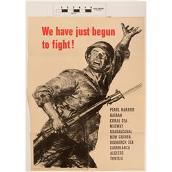 WWII Poster, We've Just Begun to Fight  (124601)
